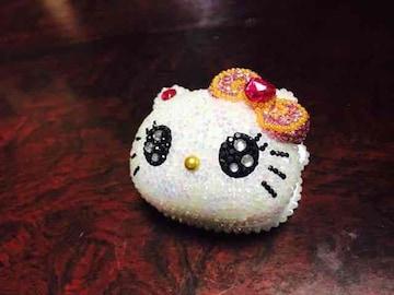 レア キティ フェイス型 ホッチキス(ミルキーホワイト)