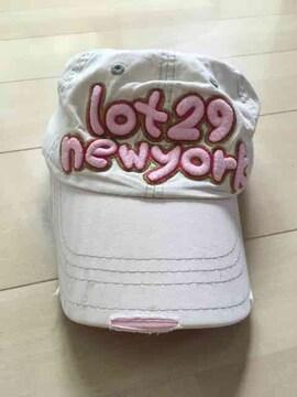 キャップ/ツバ裏ピンク/韓国キッズ服/帽子