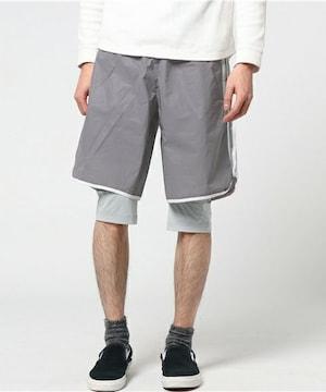 adidasアディダス☆グレーハーフパンツ