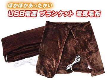 USB ブランケット 電気毛布 ひざ掛け 肩掛け 洗えるカバー