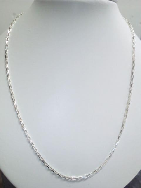 新品☆イタリー製品シルバー925 スクエアネックレス60�p  < 男性アクセサリー/時計の