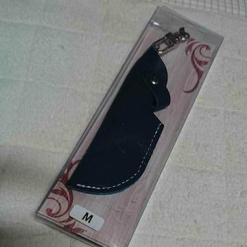 �Dレザー製 ネイビーブルー 色電子タバコケース ストラップ付き