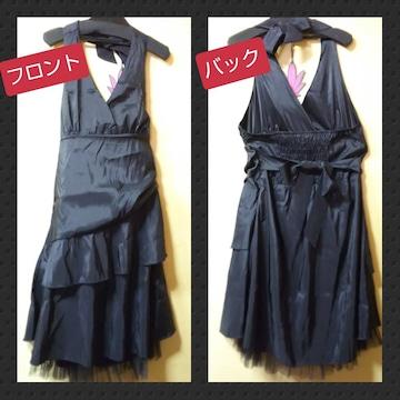 GOLD JAPAN★新品★ホルターネックの裾レースドレープワンピ