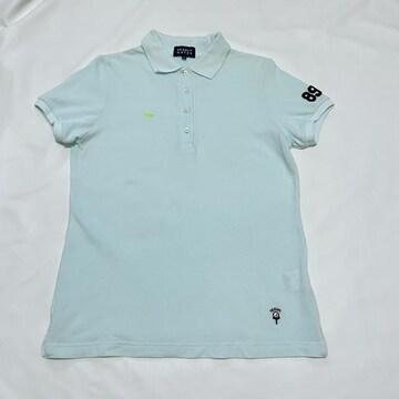 パーリーゲイツ  レディース鹿の子ポロシャツ アイスブルー #0