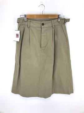 MHL.(エムエイチエル)ボタンフライ 2タックフレアスカートフレアスカート