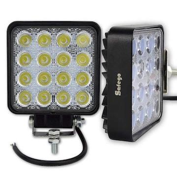 LED 作業灯 高輝度ワークライト 6000K 12V-24V対応2個 48W