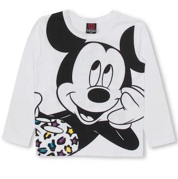 新品BABYDOLL☆120 ミッキー ロンT カラフルヒョウ柄 長袖Tシャツ ベビードール