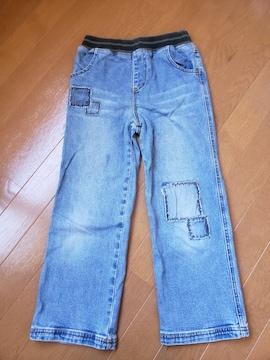 ☆新品同様☆リオ横山CRTnavey☆ウエストリブジーンズ☆130