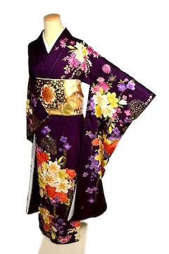 【最高級】【新品】 金彩 刺繍 花束文 振袖 T1979
