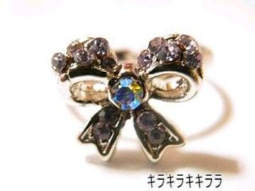 《New》ageha掲載★エタニティリボン・リング/指輪<ラベンダー>【箱付】