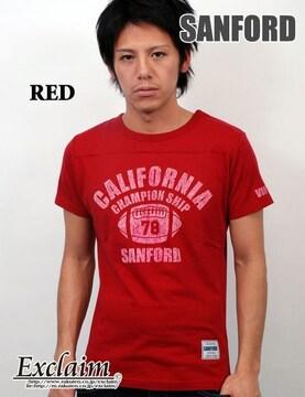 SANFORD(サンフォード)フットボールTシャツ/赤S アメカジ系