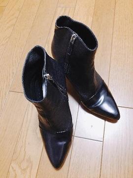 M】�@KENZO ショートブーツ 黒 37サイズ