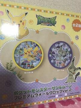ポケモン 壁掛け時計 【 パープル 】 ミミッキュ