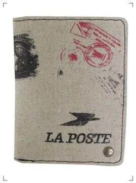 LA POSTEラポストフランス郵便局公式クラシックスタンプ柄財布