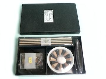 アロマ 薫香 緑茶香り アロマオイル・お香立て付き ◆即決!