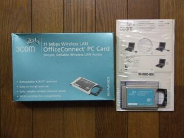 3com製 XJACKアンテナ Wi-Fi PCカード(3CRSHPW196)中古!美品