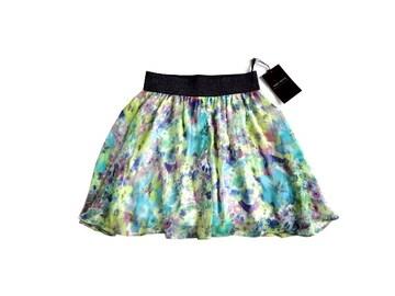 新品 定価2990円 FIRST REVUE シフォン 花柄 ミニ スカート
