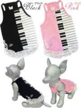 ★新品★ピアノワンピース*FB☆黒☆ぽっちゃり