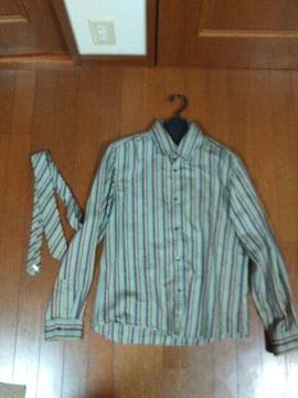 コムサコレクション ストライプシャツ