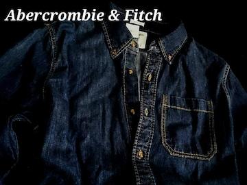【Abercrombie&Fitch】アバクロ Vintage Washed デニムシャツ XXL/Indigo