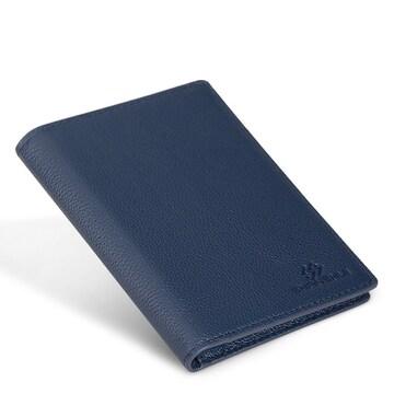 パスポート ケース 本革 スキミング防止 ブルー