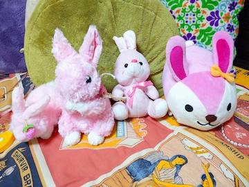 ウサギ ぬいぐるみ 4個 まとめ売り