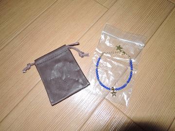 新品 M エム ブレスレット 青紺 ビーズ星☆ TMT バングル