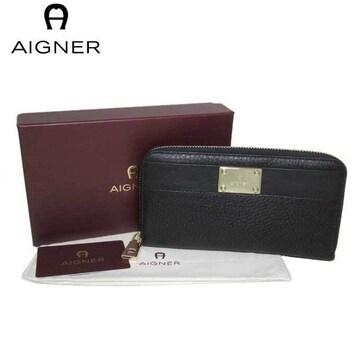 アイグナー156199-002 ファスナー長財布 レディース