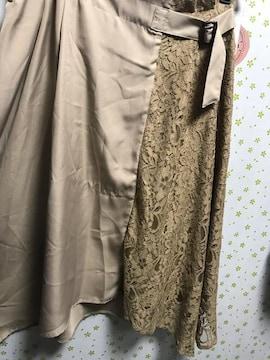 3Lサイズ レース切り替え イレヘムスカート