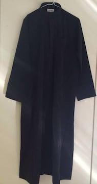 実物 UAE直輸入 アラブ民族衣装カンドーラ 純綿黒イスラム国家