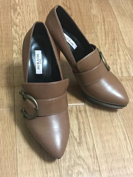 新品★茶ローファー パンプスM