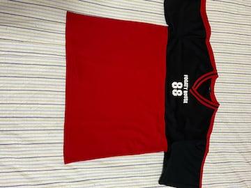 3LTシャツ赤&黒
