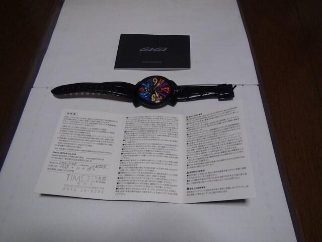 GaGa MILANO48手巻 動作確認済 !。 < ブランドの