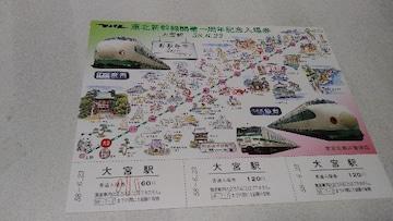 東北新幹線開業一周年記念入場券大宮駅