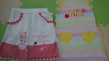130★女の子★メゾピアノ★スカート、袖無しワンピース
