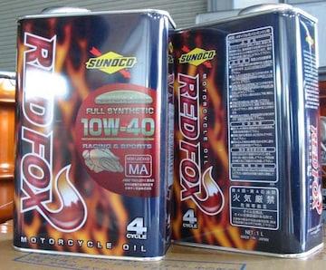 ☆ SUNOCO REDFOX. RACING & SPORTS. 10W-40 1L缶×3.