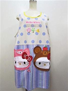 キティ・サンリオ★キャラクターエプロン★保育士 (顔ポケット)