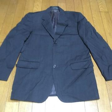 フェンディ ウールテーラードジャケット メンズ 43/L 濃灰 良品