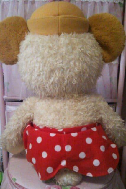 カドリーベアLサイズ62cm ダッフィーシェリーメイの友達にディズニーミニー < おもちゃの