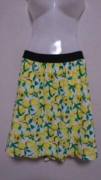*大きいサイズ*レモン柄スカート*5L6L