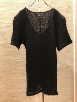LGB ルグランブルー BAGGY-V 半袖 カシミヤ シャギーニット tシャツ