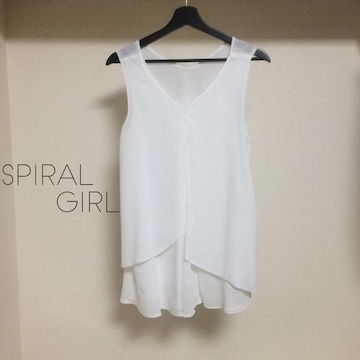 Spiral girl シフォンチュニック