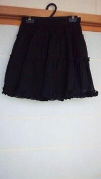HONEYBEE 黒 ミニスカート ヒラミニ ONEsize チュール ゴス N2m