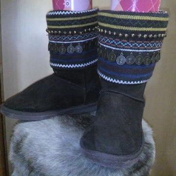 飾り付ムートン ブーツ S(36)