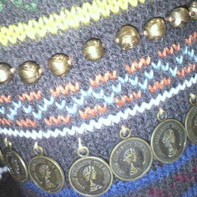飾り付ムートン ブーツ S(36) < 女性ファッションの