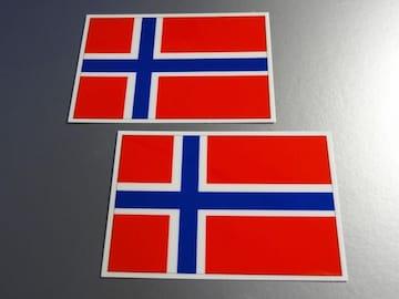 ■ノルウェー国旗ステッカー2枚セット即買■スーツケースなどに