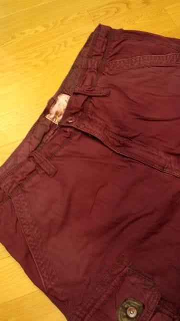 JETLAGカーゴハーフパンツ紫 パープル サイズW42→W44 ウエスト114cm < 男性ファッションの