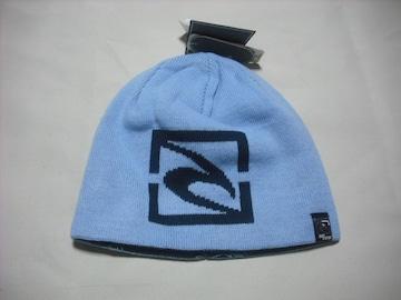 mb722 男 RIP CURLリップカール リバーシブル ニット帽 青紺