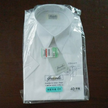 新品 ゆったりめのソフトシャツ 白 40ー半袖