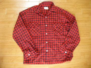 ヴィンテージ 70年代 オープンカラーシャツ USA-M